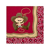 Little Cowboy - Baby Shower Beverage Napkins - 16 Pack
