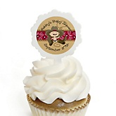 Little Cowboy - 12 Cupcake Picks & 24 Personalized Stickers - Baby Shower Cupcake Toppers