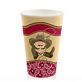 Little Cowboy - Western Baby Shower Hot/Cold Cups - 8 ct