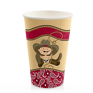 Little Cowboy - Western Baby Shower Hot/Cold Cups - 8 Pack