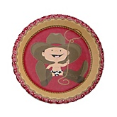 Little Cowboy - Western Baby Shower Dessert Plates - 8 Pack
