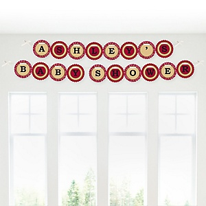 Little Cowboy - Western Personalized Baby Shower Garland Letter Banners