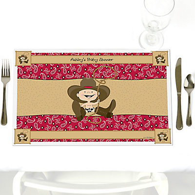 Cowboy Baby Shower Place mat