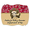 Little Cowboy - Personalized Baby Shower Squiggle Stickers - 16 ct