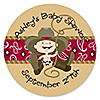 Little Cowboy - Personalized Baby Shower Sticker Labels - 24 ct