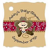 Little Cowboy - Personalized Baby Shower Tags - 20 Count