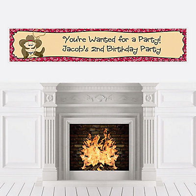 Personalize | Birthday | Western | Cowboy | Little | Banner | Party