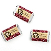 Little Cowboy - Personalized Birthday Party Mini Candy Bar Wrapper Favors - 20 ct