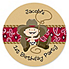 Little Cowboy - Personalized Birthday Party Sticker Labels - 24 ct