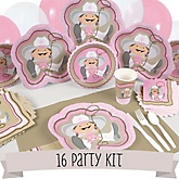 Little Cowgirl - 16 Person Baby Shower Kit
