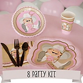 Little Cowgirl - 8 Person Baby Shower Kit