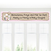 Little Cowgirl - Western Personalized Baby Shower Banner