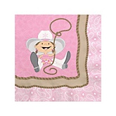 Little Cowgirl - Western Baby Shower Beverage Napkins - 16 Pack