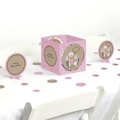 Little Cowgirl   Western Baby Shower Centerpiece U0026 Table Decoration Kit