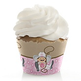 Little Cowgirl - Western Baby Shower Cupcake Wrappers