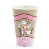 Little Cowgirl - Western Baby Shower Hot/Cold Cups - 8 Pack