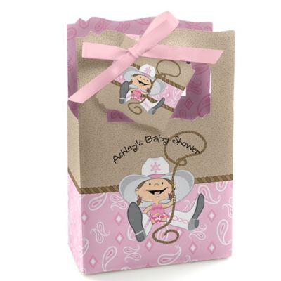 Little Cowgirl   Western Personalized Baby Shower Favor Boxes