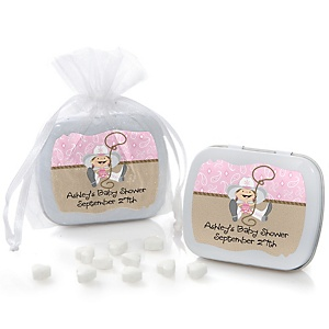 Little Cowgirl - Western Mint Tin Personalized Baby Shower Favors