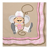 Little Cowgirl - Western Baby Shower Luncheon Napkins - 16 Pack