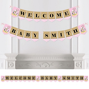Little Cowgirl - Western Personalized Baby Shower Bunting Banner