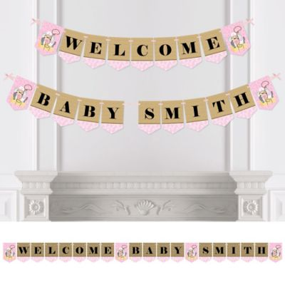 Little Cowgirl   Western Personalized Baby Shower Bunting Banner U0026  Decorations