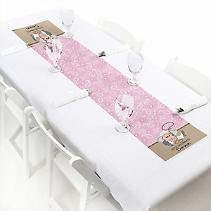 Little Cowgirl - Western Personalized Baby Shower Petite Table Runners