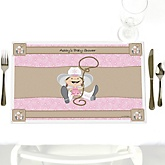 Little Cowgirl - Western Personalized Baby Shower Placemats