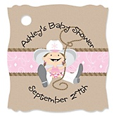 Little Cowgirl - Personalized Baby Shower Tags - 20 Count