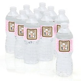 Little Cowgirl - Western Baby Shower Personalized Water Bottle Sticker Labels - 10 Count