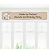 Little Cowgirl - Personalized Birthday Party Banners