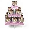 Little Cowgirl - Western Birthday Party Candy Stand and 13 Candy Boxes