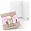 Little Cowgirl - Western Birthday Party Thank You Cards - 8 ct