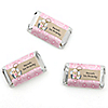 Little Cowgirl - Personalized Birthday Party Mini Candy Bar Wrapper Favors - 20 ct