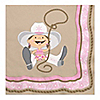 Little Cowgirl - Western Birthday Party Luncheon Napkins - 16 ct