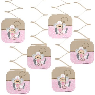 Little Cowgirl   Western Baby Shower Hanging Decorations   6 Ct