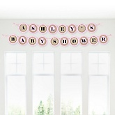 Little Cowgirl - Western Personalized Baby Shower Garland Letter Banners