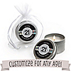 Custom Birthday - Personalized Birthday Party Candle Tin Favors