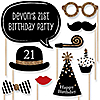 Custom Birthday - Gold - 20 Piece Photo Booth Props Kit