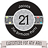 Custom Birthday - Personalized Birthday Party Sticker Labels - 24 ct