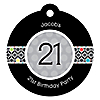 Custom Birthday - Round Personalized Birthday Party Tags - 20 ct