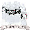 Custom Birthday - Personalized Birthday Party Water Bottle Sticker Labels - Set of 10