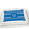 Damask Blue - Personalized Bridal Shower Cake Toppers