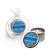Damask Blue - Personalized Bridal Shower Candle Tin Favors