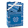 Damask Blue - Personalized Bridal Shower Favor Boxes
