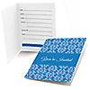 Damask Blue - Bridal Shower Fill In Invitations - 8 ct