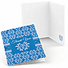 Damask Blue - Bridal Shower Thank You Cards - 8 ct
