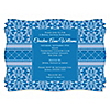 Damask Blue - Personalized Bridal Shower Invitations
