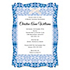 Damask Blue - Personalized Bridal Shower Vellum Overlay Invitations