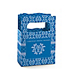 Damask Blue - Personalized Bridal Shower Mini Favor Boxes