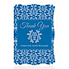 Damask Blue - Personalized Bridal Shower Thank You Cards
